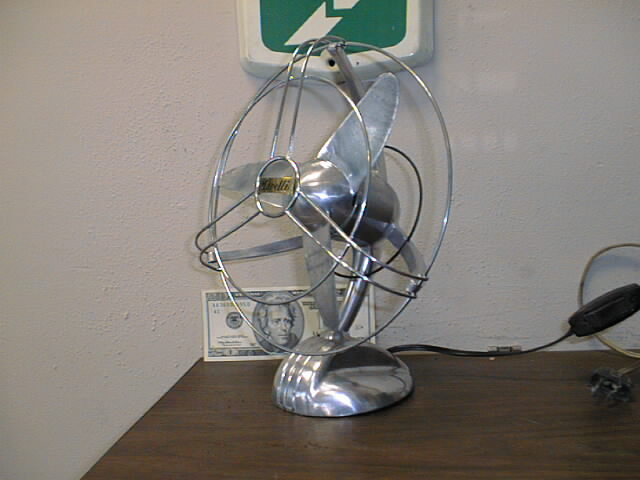 ... Photo of an antique electric streamline style fan - Antique Electric Fans
