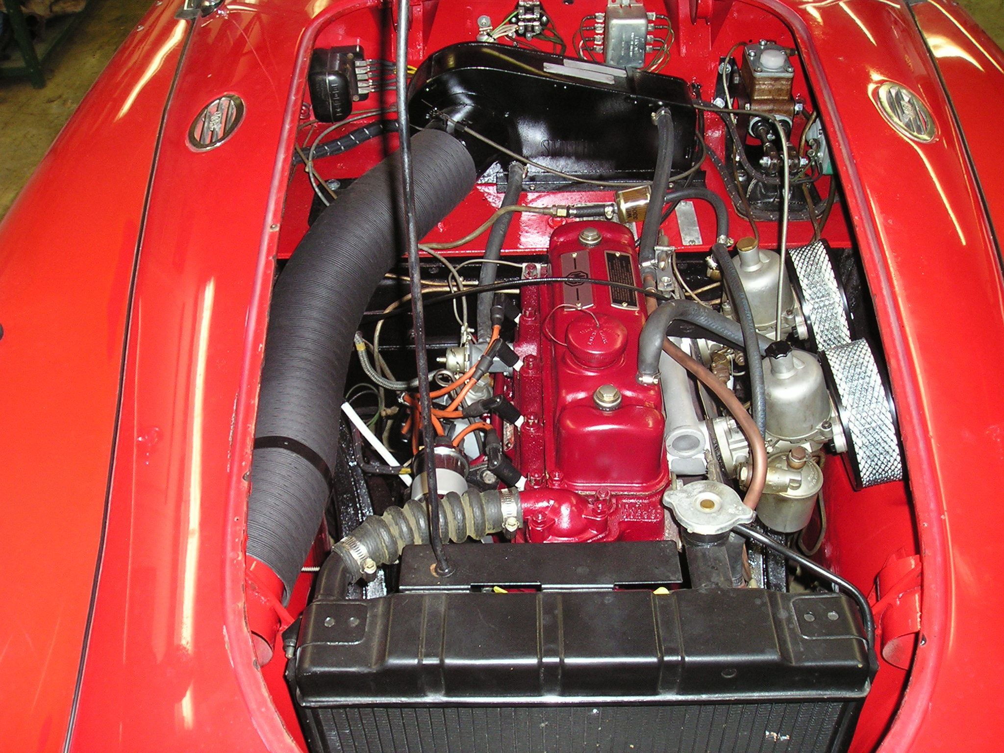 MGA-Completed-Engine-Installation H Harness Wiring Diagram on